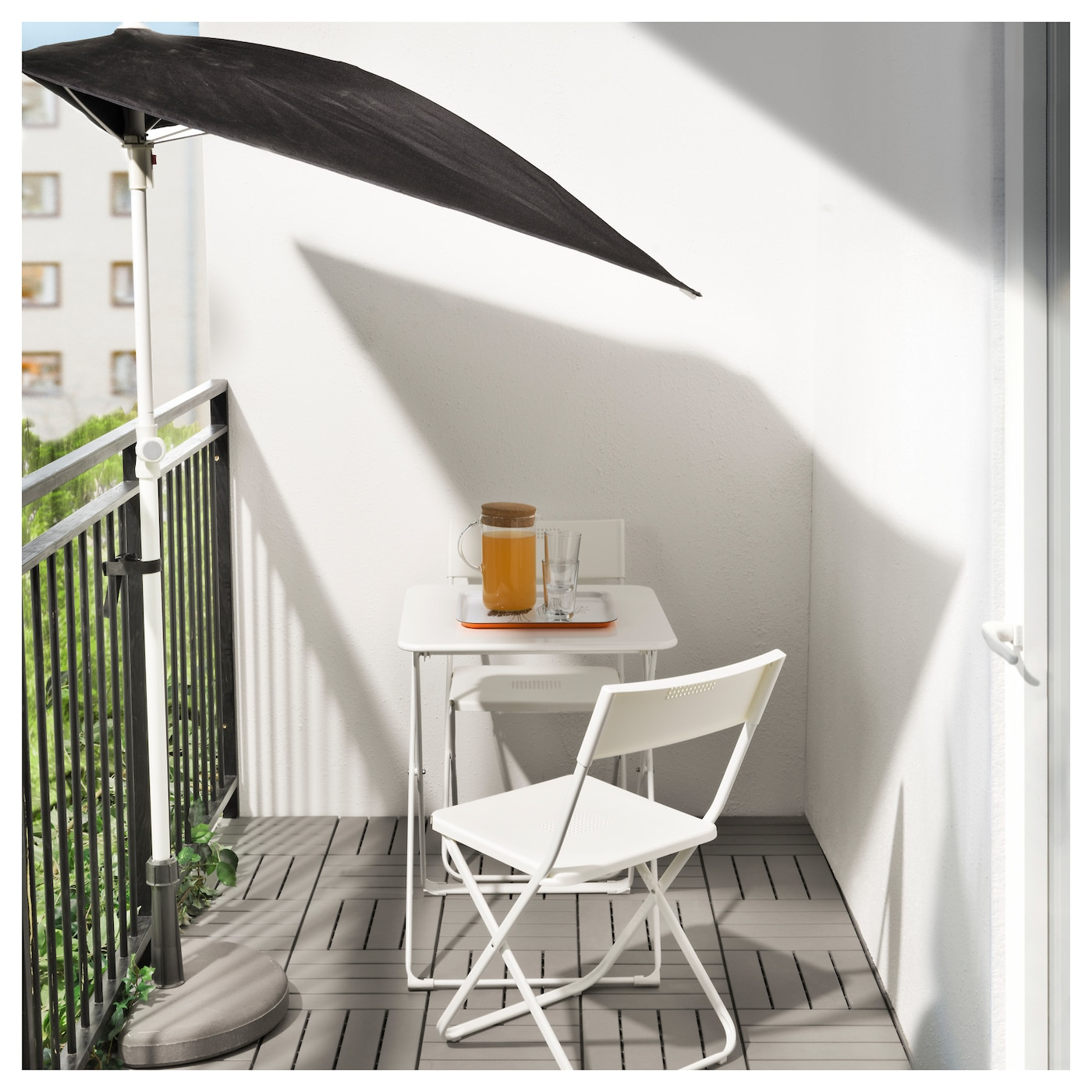IKEA HÄRÖ table, outdoor Easy to fold up and put away.