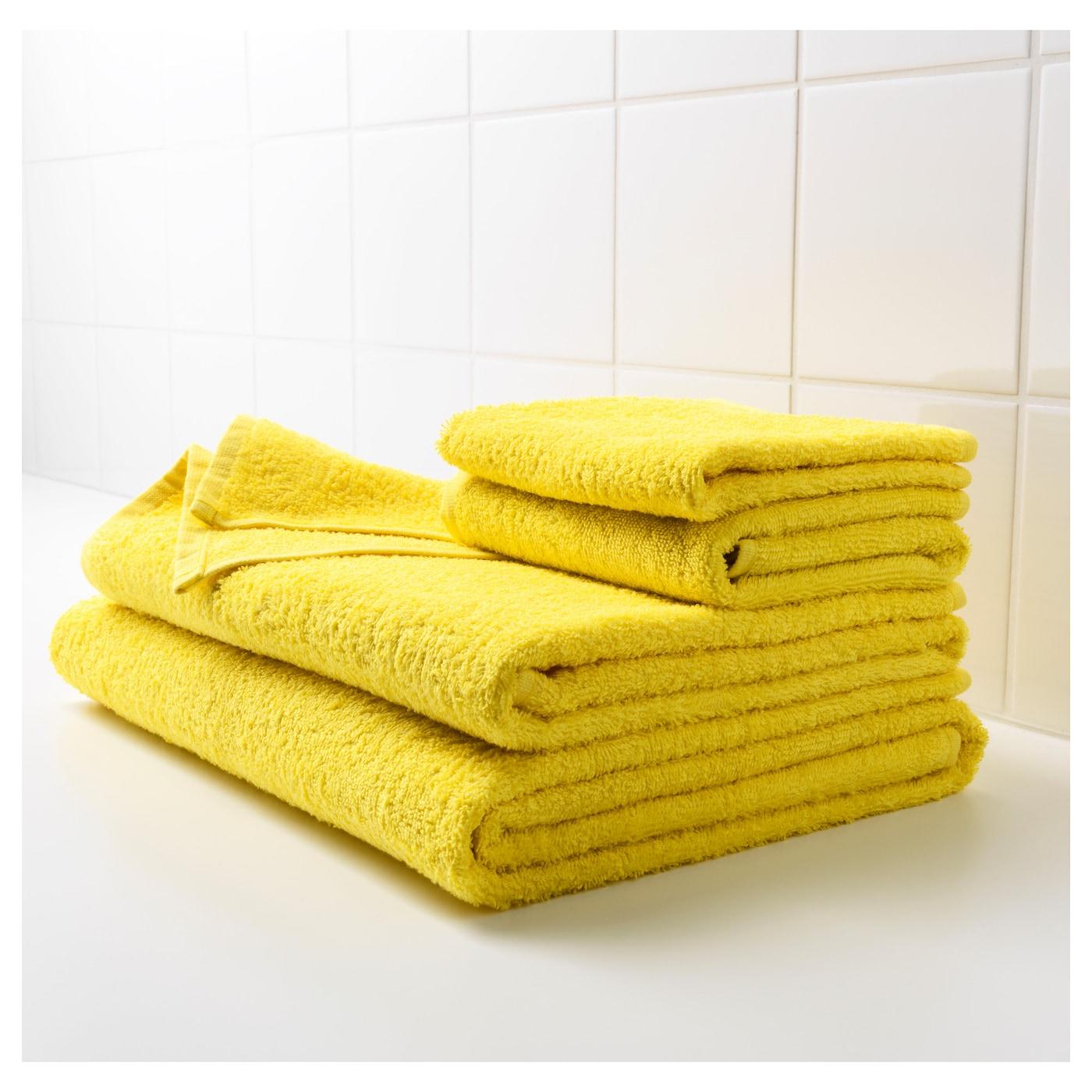 H ren bath towel bright yellow 70x140 cm ikea for Yellow rugs ikea