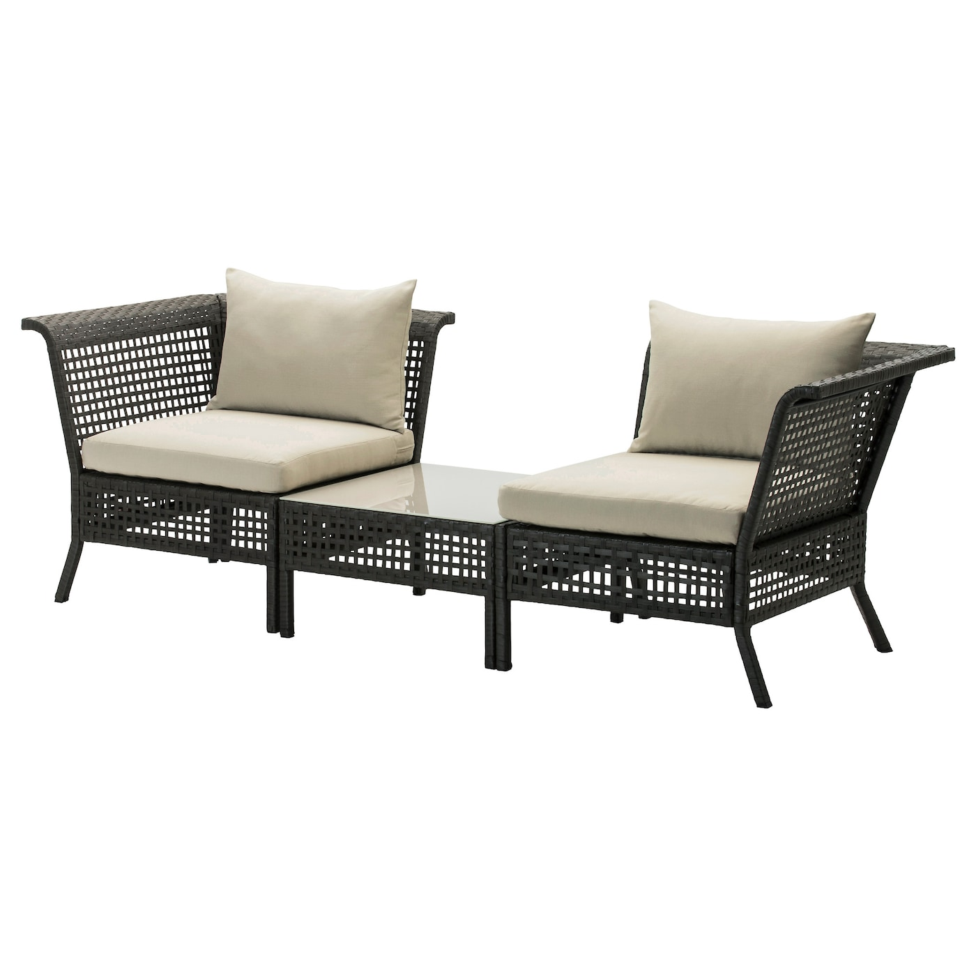 h ll kungsholmen corner easy chairs w table outdoor. Black Bedroom Furniture Sets. Home Design Ideas