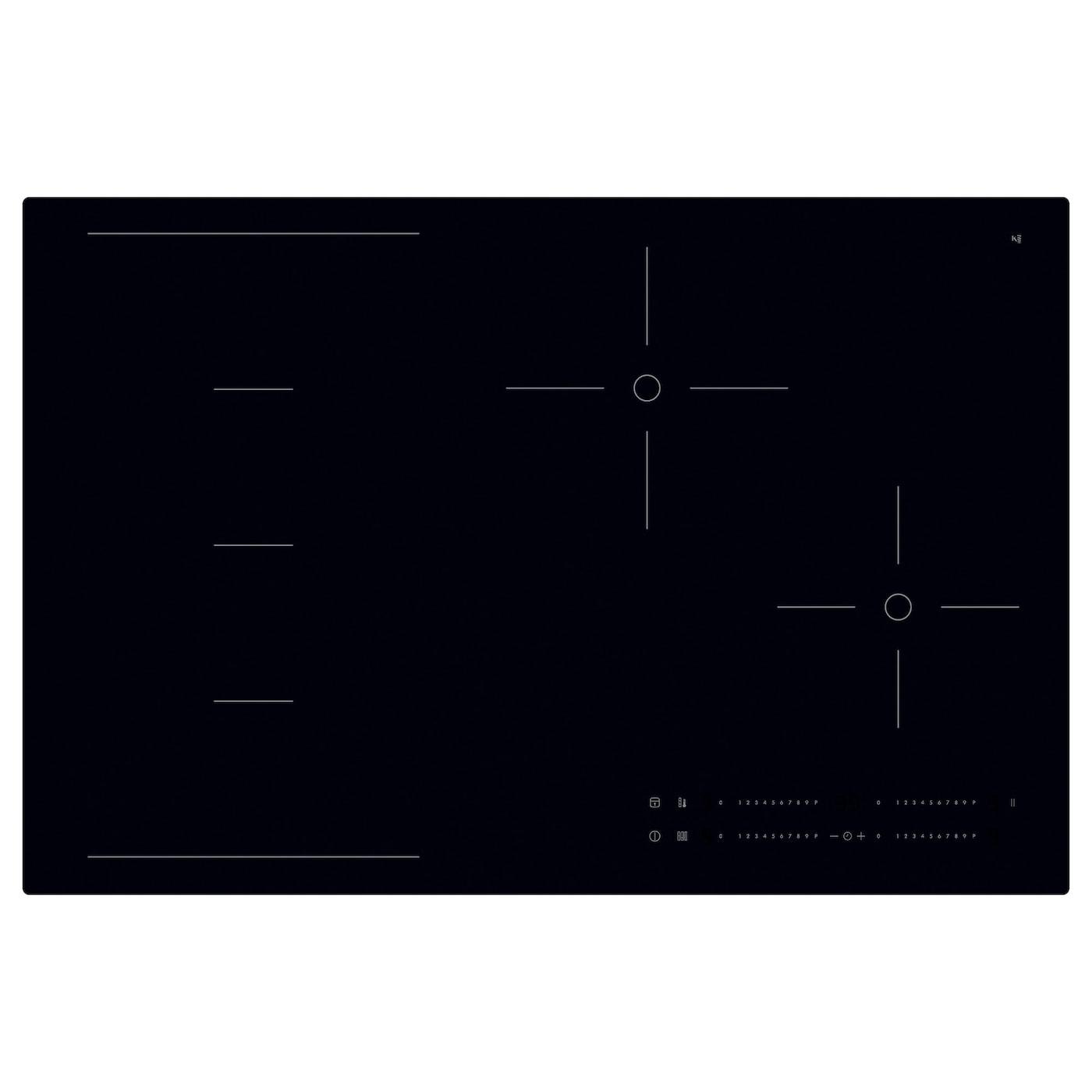 h gklassig induction hob black 78 cm ikea. Black Bedroom Furniture Sets. Home Design Ideas