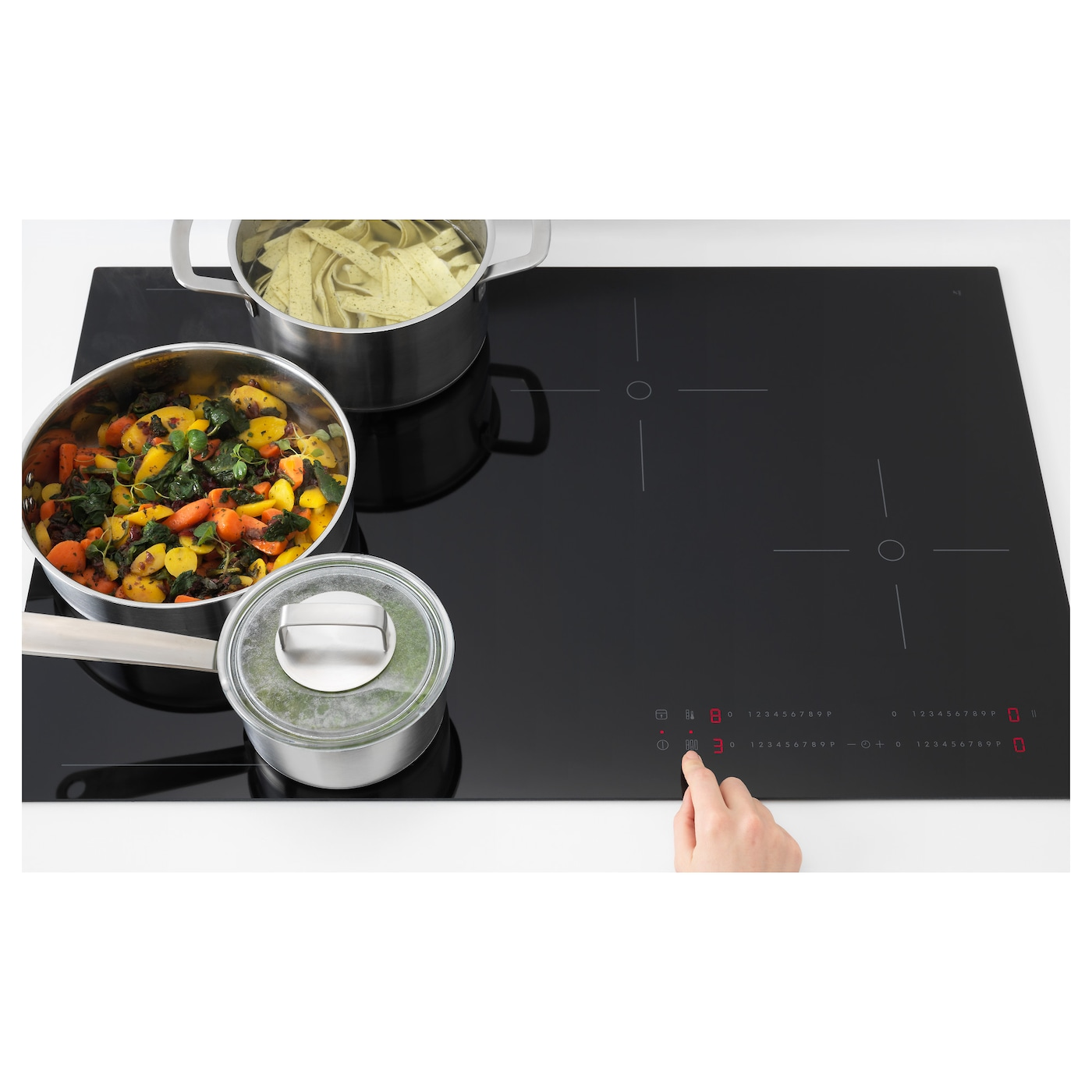 IKEA HÖGKLASSIG induction hob with flexible zones