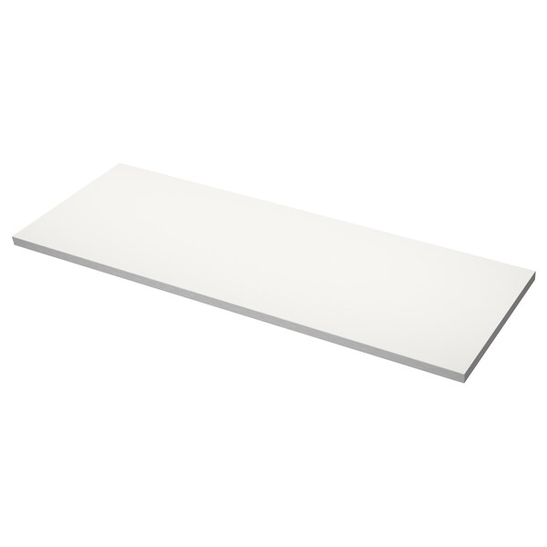 HÄLLESTAD Worktop, double-sided, white aluminium effect/with metal effect edge laminate, 246x3.8 cm