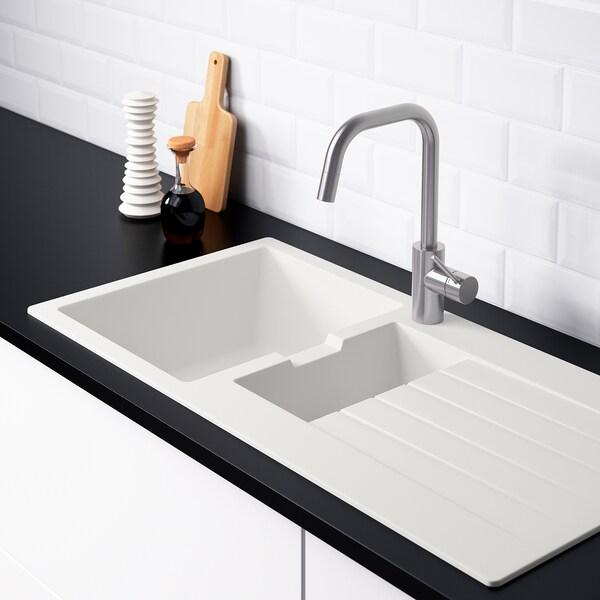 IKEA HÄLLVIKEN Inset sink, 1 ½ bowl w drainboard