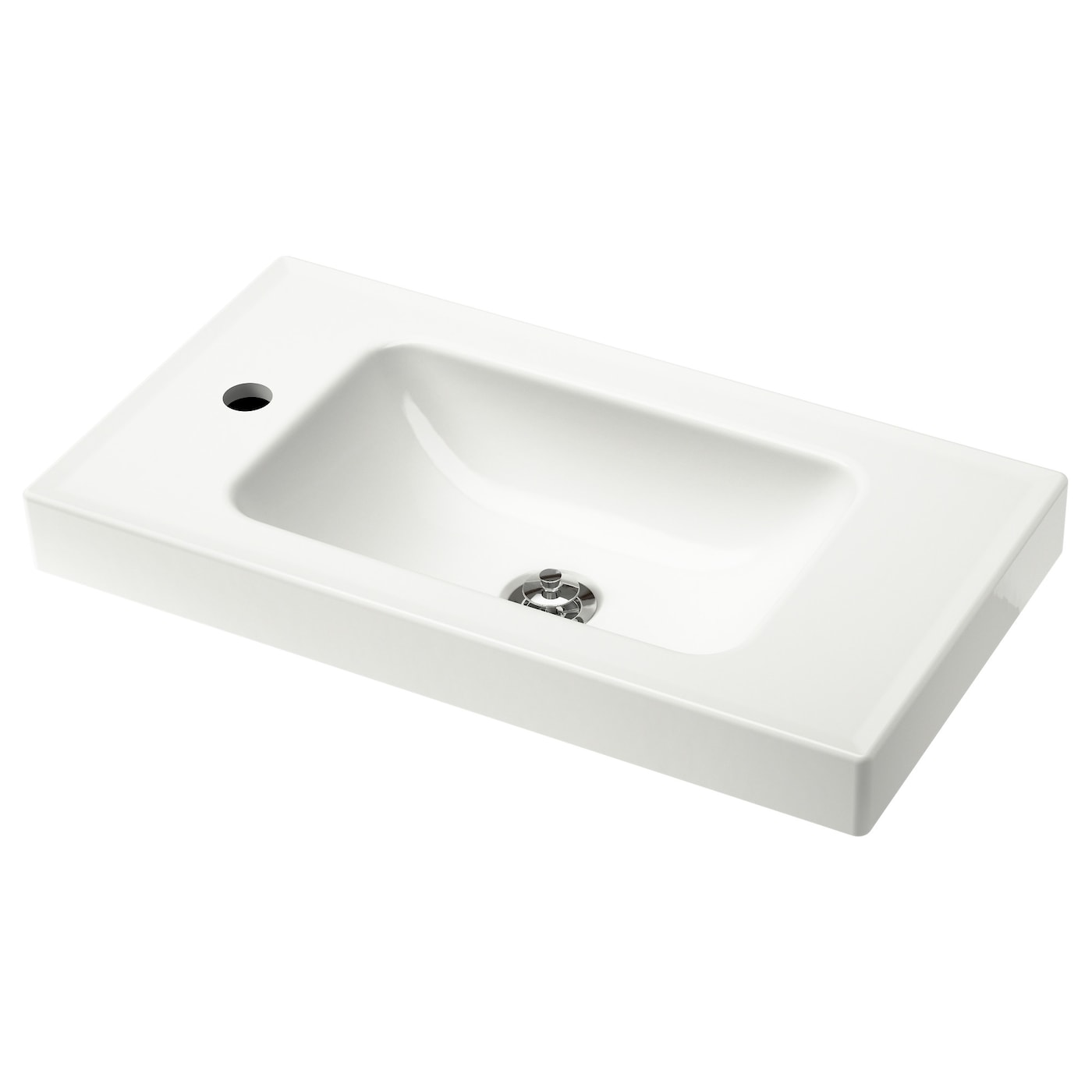 Hagaviken single wash basin white 60 cm ikea for Evier salle de bain ikea