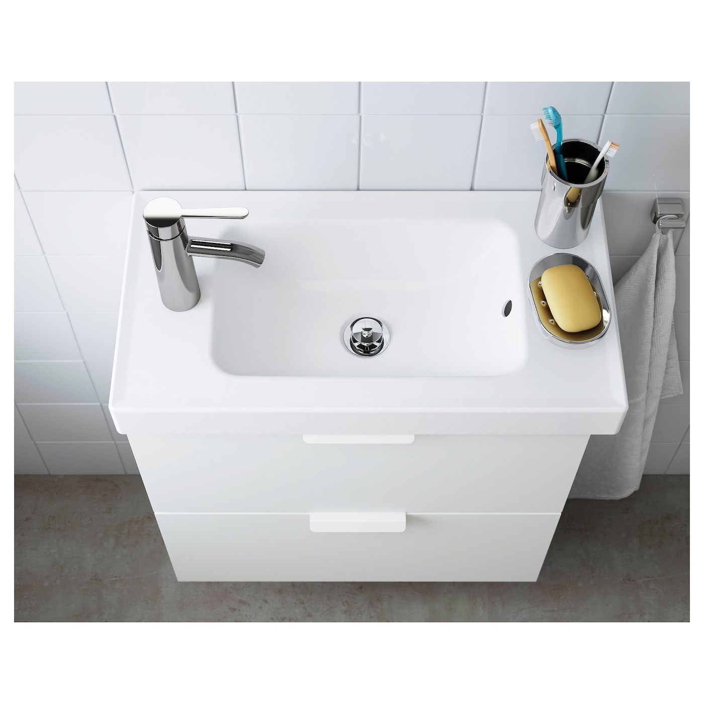 Hagaviken single wash basin white 63 cm ikea - Lavello bagno ikea ...