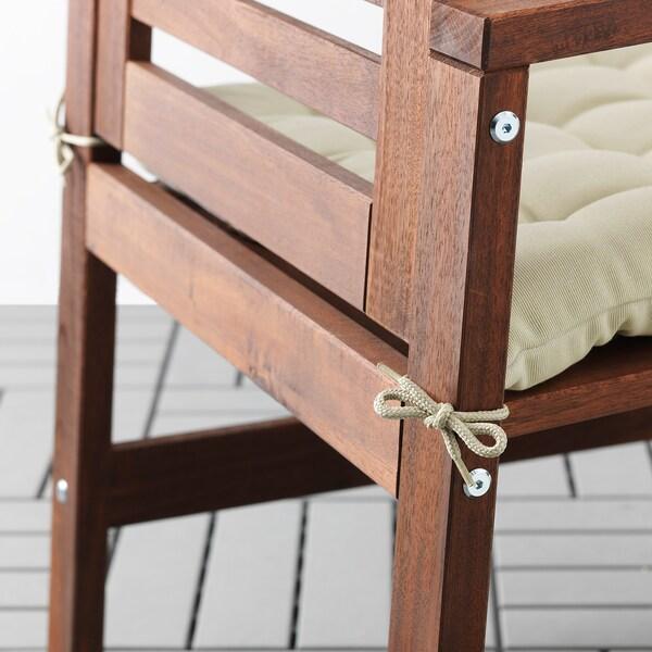 HÅLLÖ Chair cushion, outdoor, beige, 50x50 cm