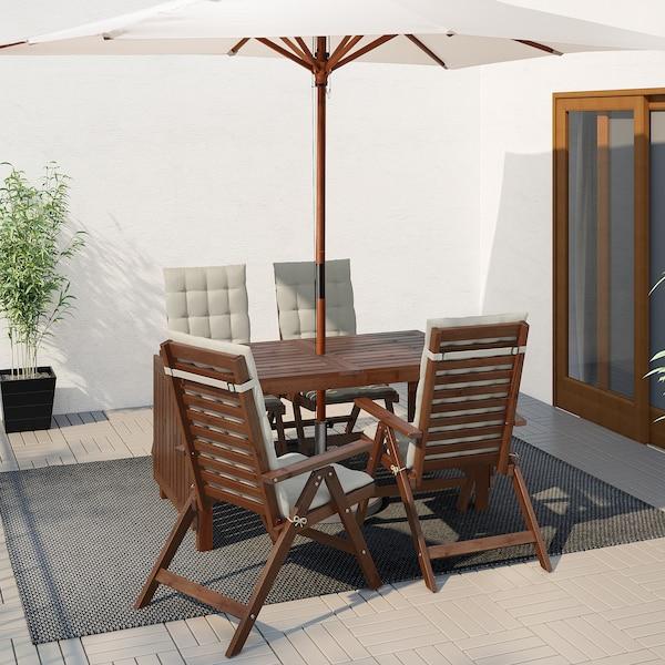 HÅLLÖ Seat/back cushion, outdoor, beige, 116x47 cm
