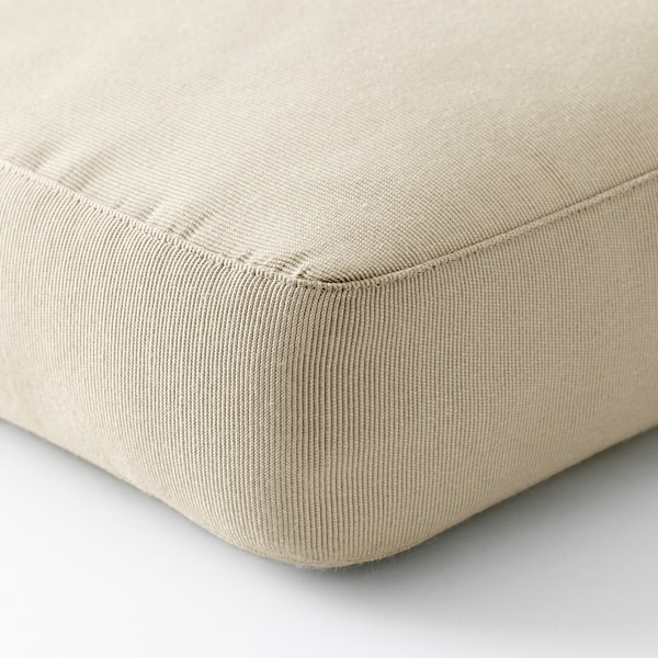 HÅLLÖ Seat cushion, outdoor, beige, 62x62 cm