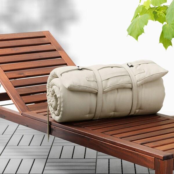 HÅLLÖ Sun lounger pad, beige, 190x60 cm