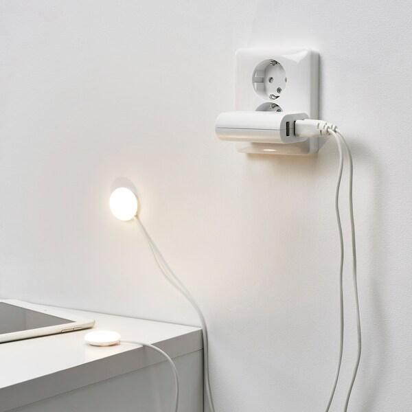 HALVKLART LED cabinet spotlight, white