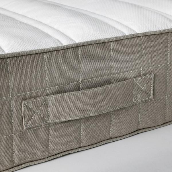 HAMARVIK Sprung mattress, medium firm/dark beige, Standard Double