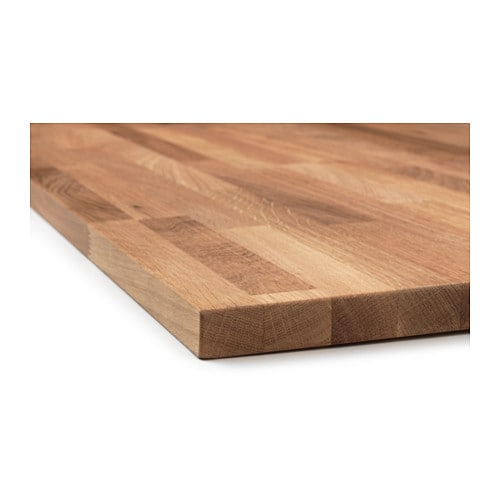 Hammarp worktop oak 186x2 8 cm ikea - Plan de travail arrondi ikea ...