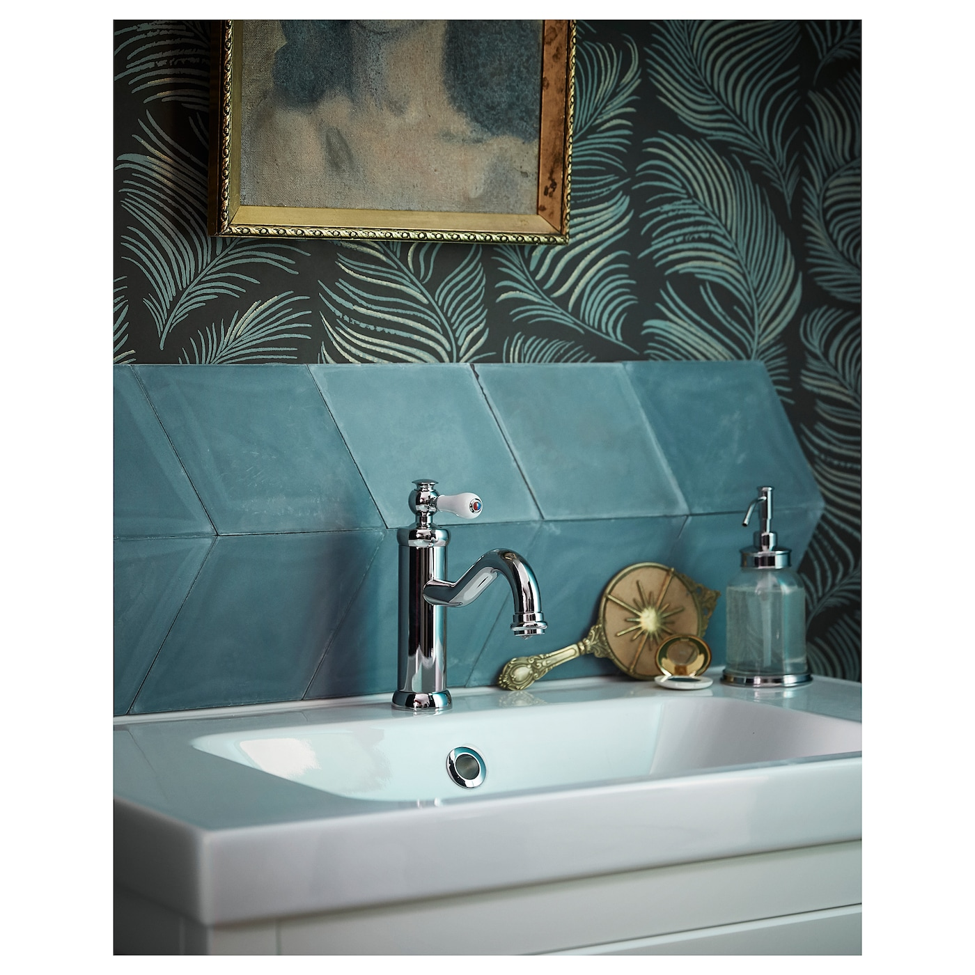 HAMNSKÄR Wash-basin mixer tap with strainer Chrome-plated - IKEA