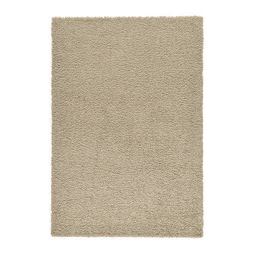 Hampen rug high pile beige 133x195 cm ikea for Outdoor teppich ikea