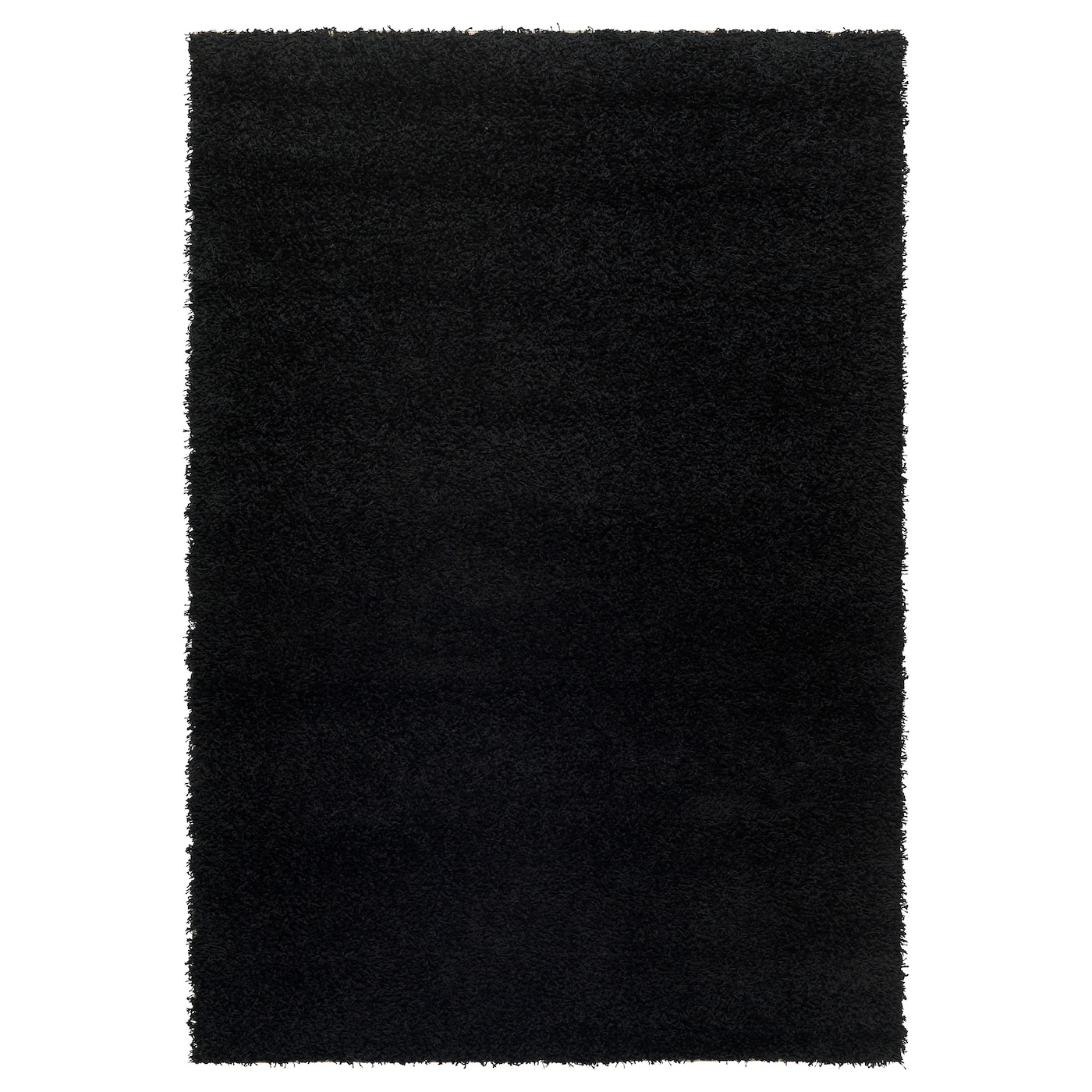 Hampen Rug High Pile Black 133 X 195 Cm Ikea