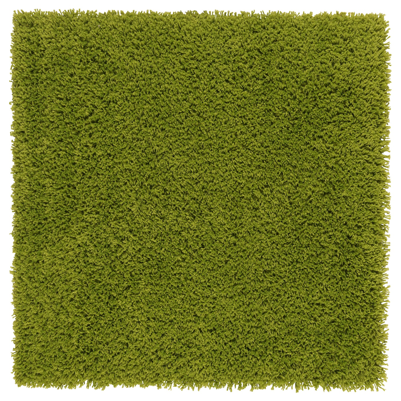 Hampen Rug High Pile Bright Green 80x80 Cm Ikea