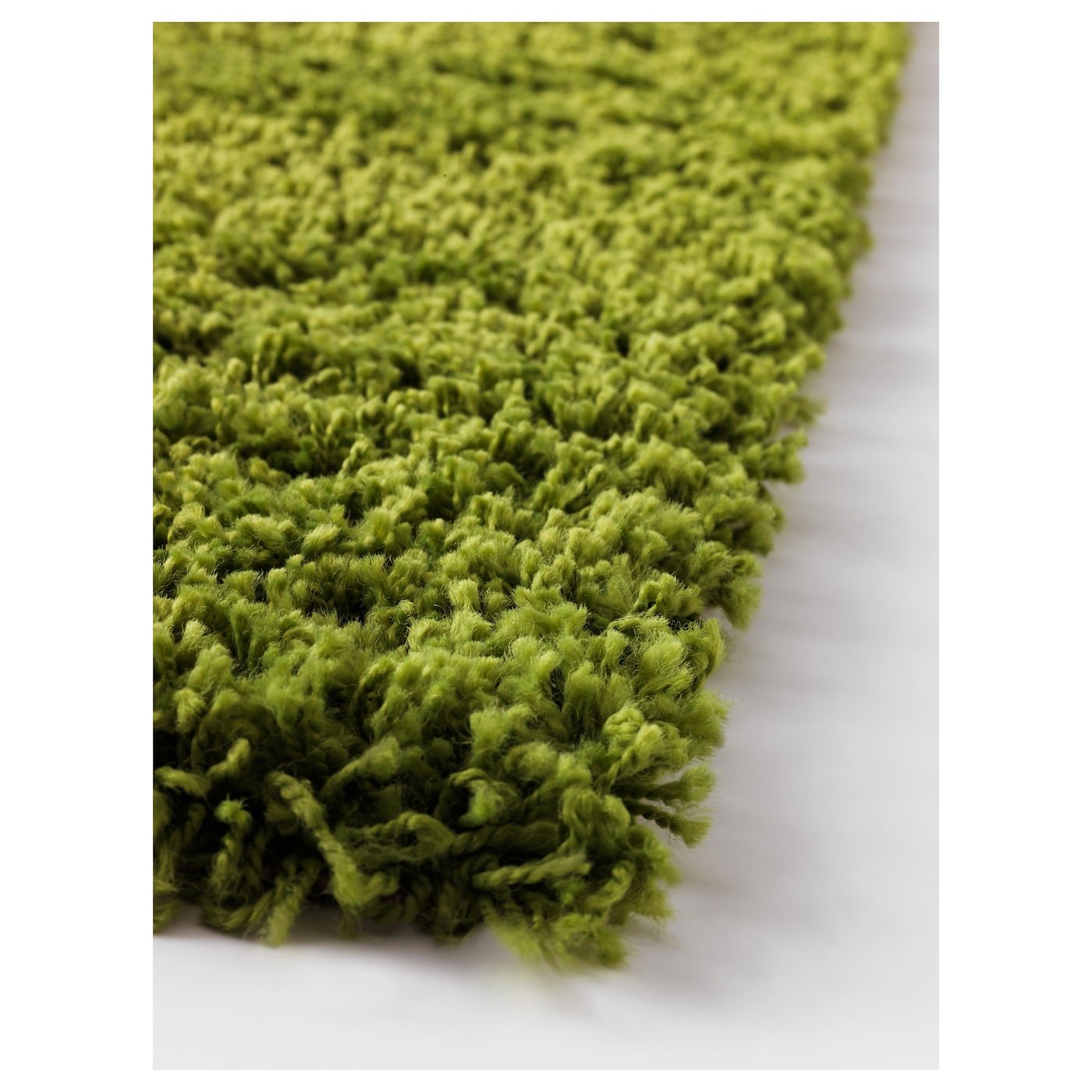 Hampen Rug High Pile Bright Green 80 X 80 Cm Ikea