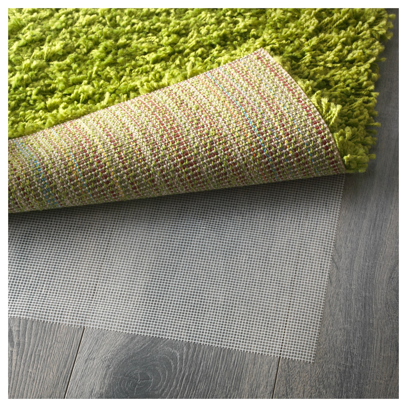 HAMPEN Rug, High Pile Bright Green 133 X 195 Cm