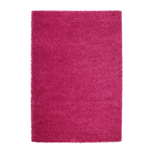 HAMPEN Rug, High Pile Bright Pink 133 X 195 Cm