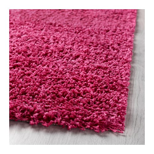 Hampen rug high pile bright pink 80x80 cm ikea for Ikea pink rug
