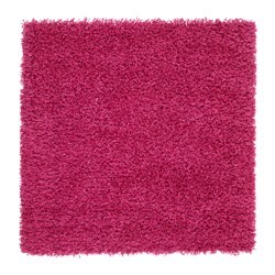 Hampen rug high pile bright pink 80x80 cm ikea - Ikea textiles y alfombras ...