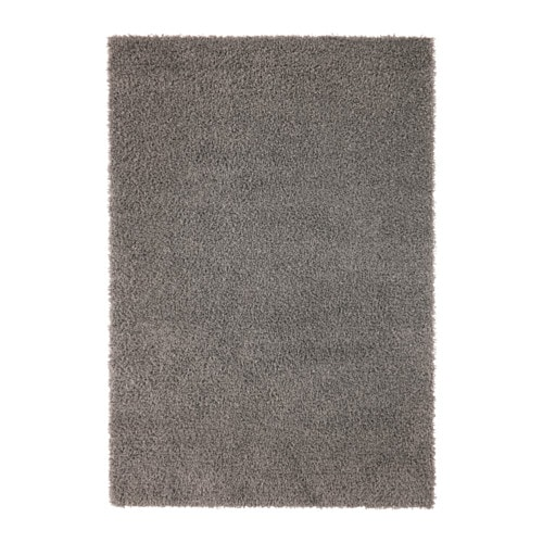 Hampen rug high pile grey 160x230 cm ikea for Ikea rugs