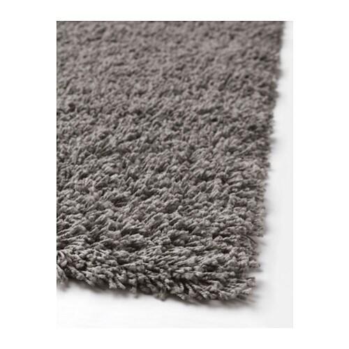 Hampen Rug High Pile Grey 160x230 Cm Ikea