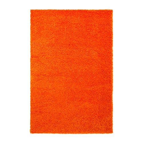 HAMPEN Rug, high pile Orange 133×195 cm  IKEA