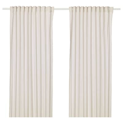 HANNALILL Curtains, 1 pair, beige, 145x250 cm
