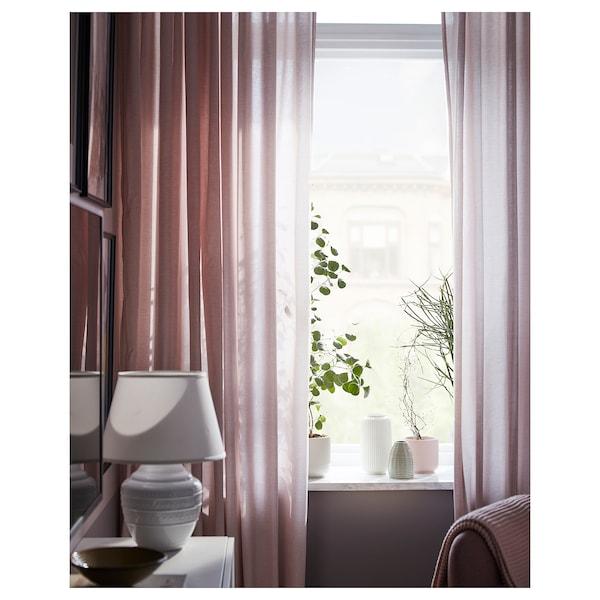 HANNALILL Curtains, 1 pair, dark pink, 145x250 cm