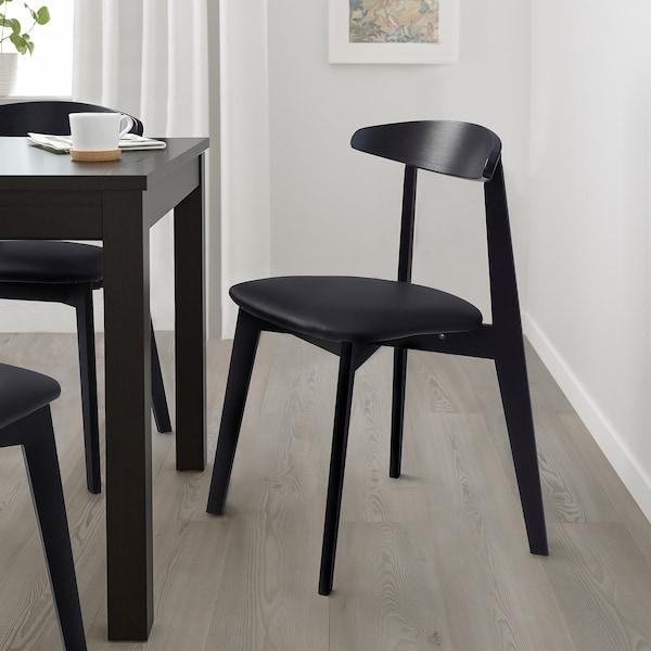HANSOLA Chair, bamboo black/Kimstad black