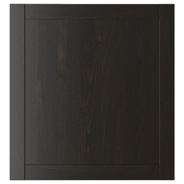 HANVIKEN Door, black-brown, 60x64 cm