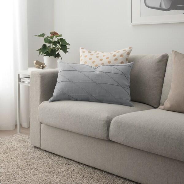 HARÖRT Cushion, grey, 40x65 cm