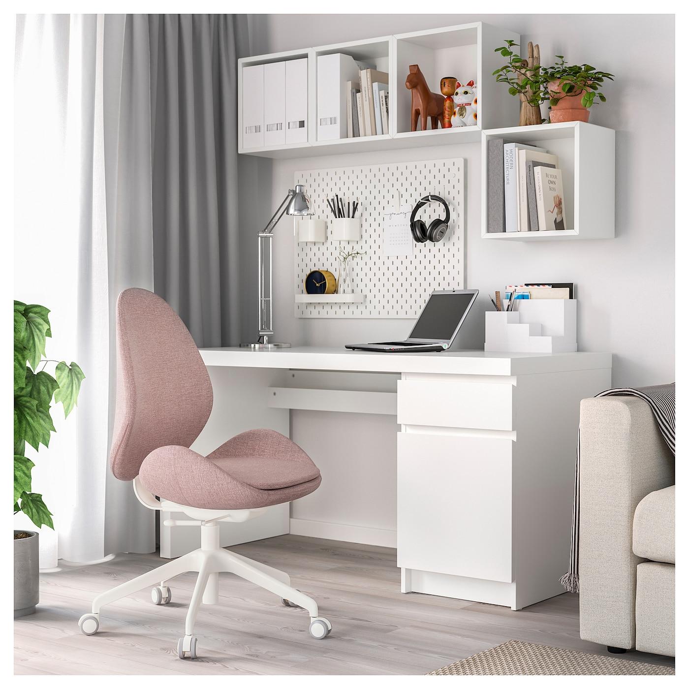 Gunnared Light Brown Pink Office Chair