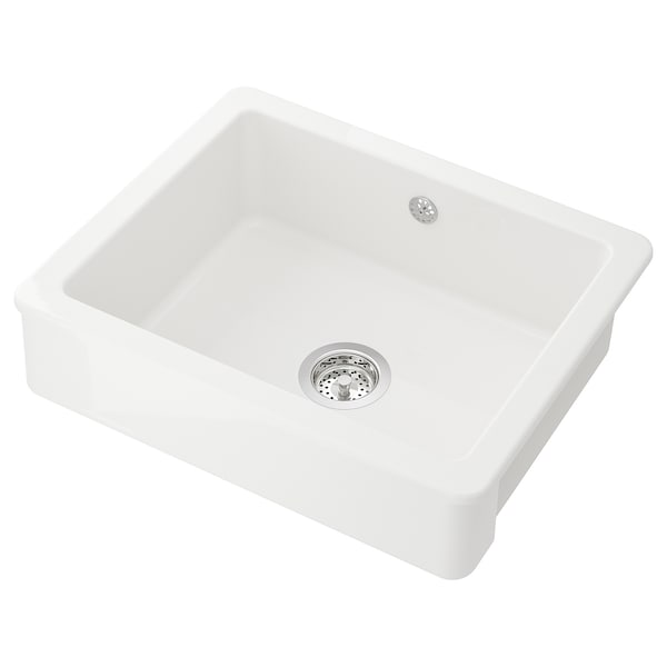 HAVSEN sink bowl w visible front white 19 cm 53 cm 40 cm 42.4 cm 56.4 cm 48 cm 62 cm 62 cm 48 cm 40.3 l
