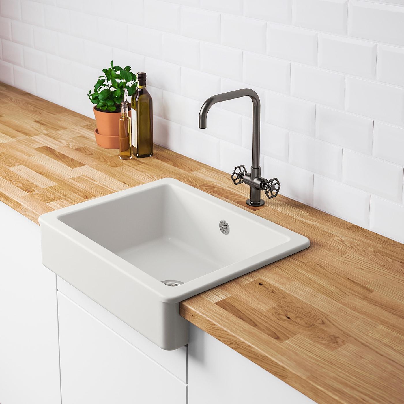 HAVSEN white, Sink bowl w visible front