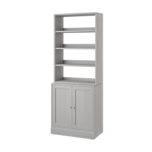 HAVSTA Storage combination, grey, 81x47x212 cm