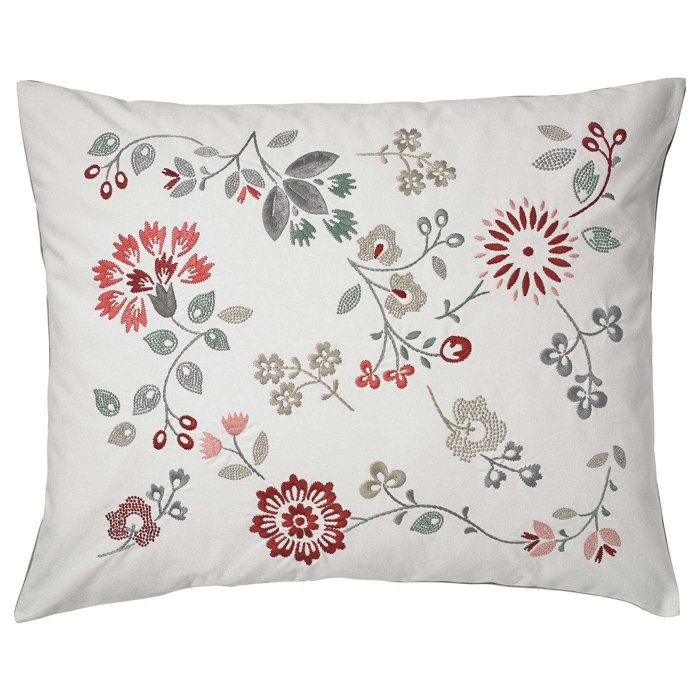 IKEA HEDBLOMSTER cushion Embroidery adds texture and lustre to the cushion.