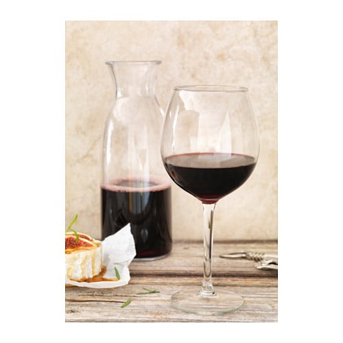 IKEA HEDERLIG red wine glass Extra large cup retains the aroma well.