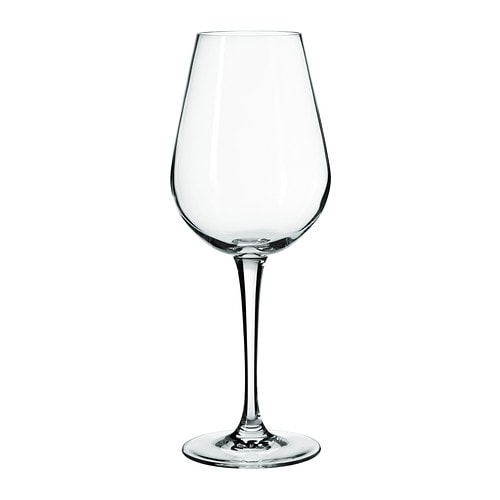 IKEA HEDERLIG white wine glass