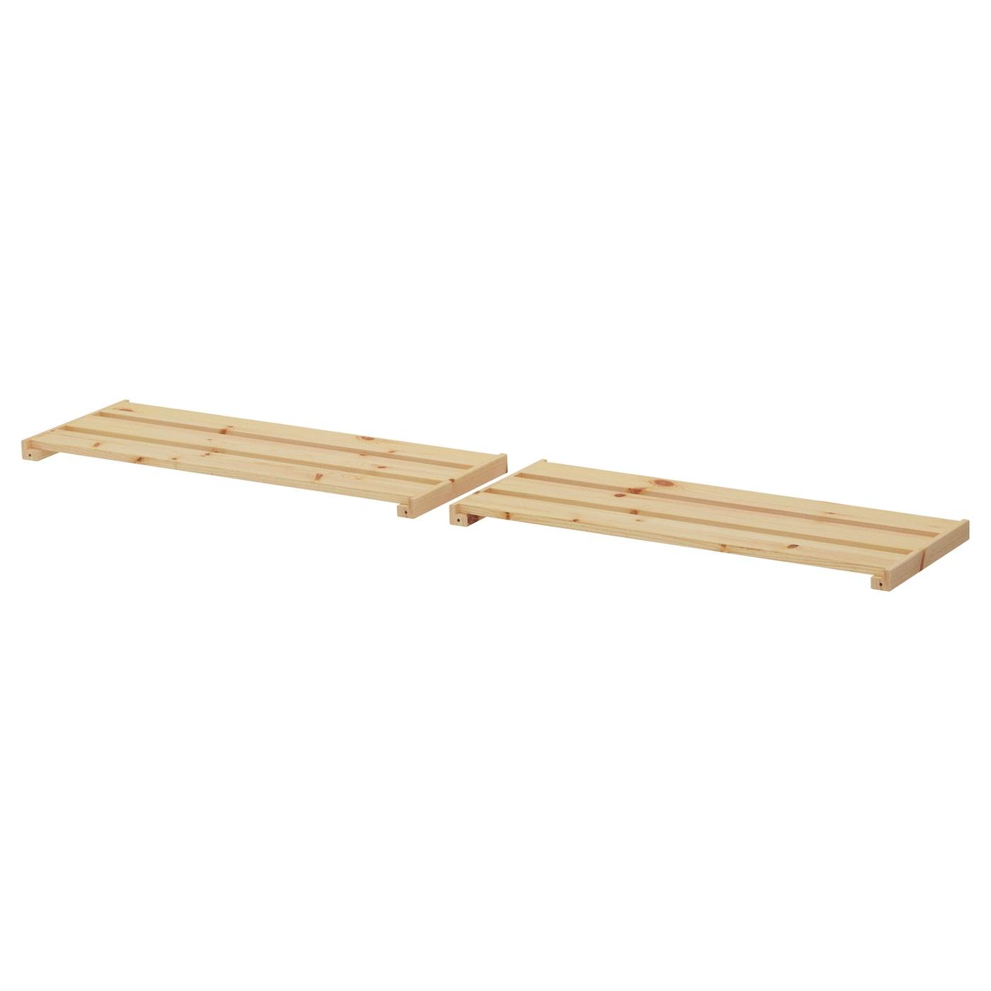 Hejne shelf softwood 77x28 cm 2 pack ikea - Tablette bois salle de bain ...