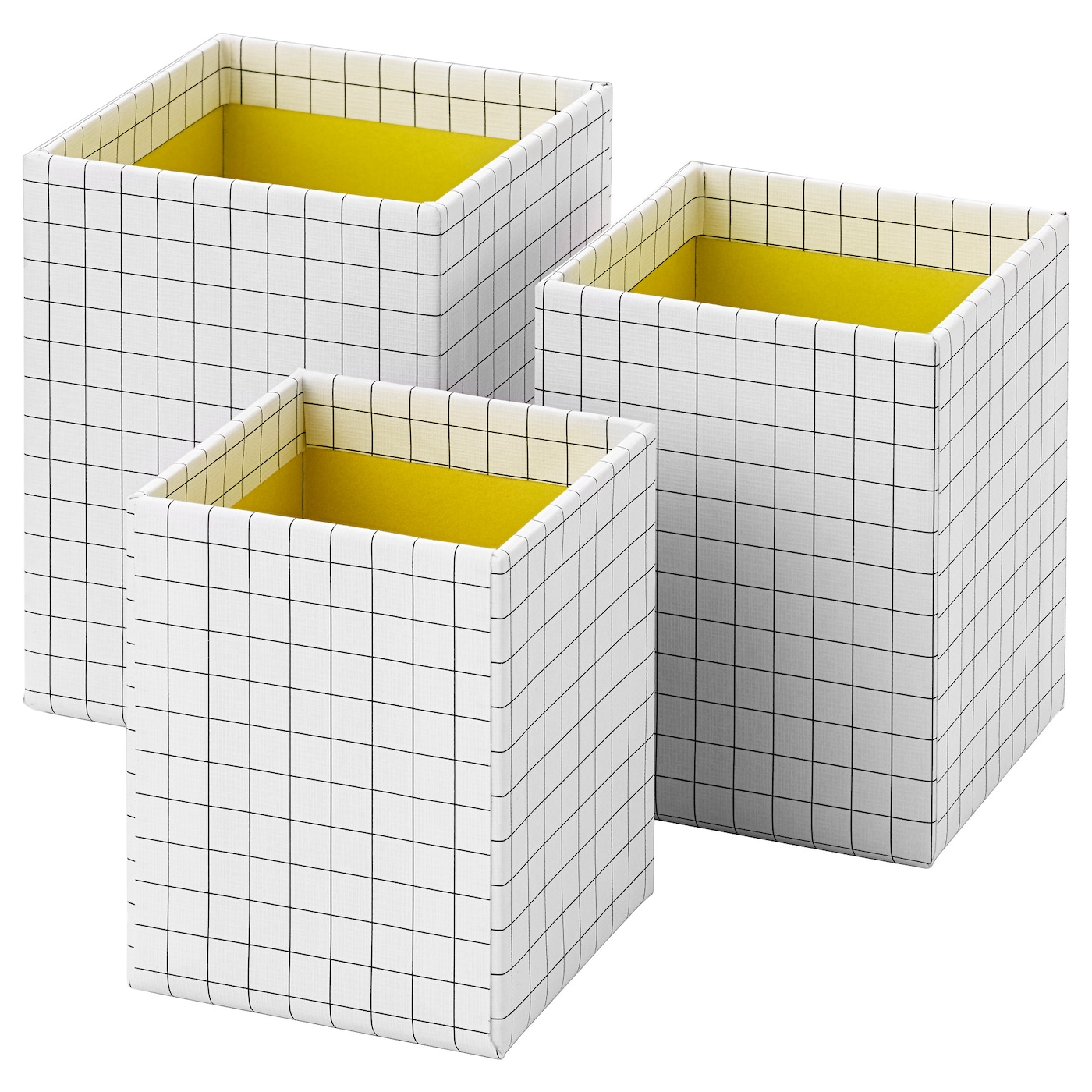 IKEA HEJSAN pen cup, set of 3 Helps you keep your pens, rulers and other small things organised.