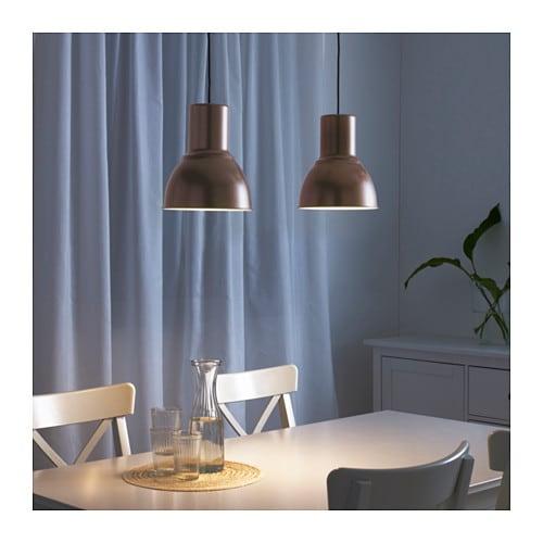 Hektar pendant lamp bronze colour 22 cm ikea - Suspension cuisine ikea ...