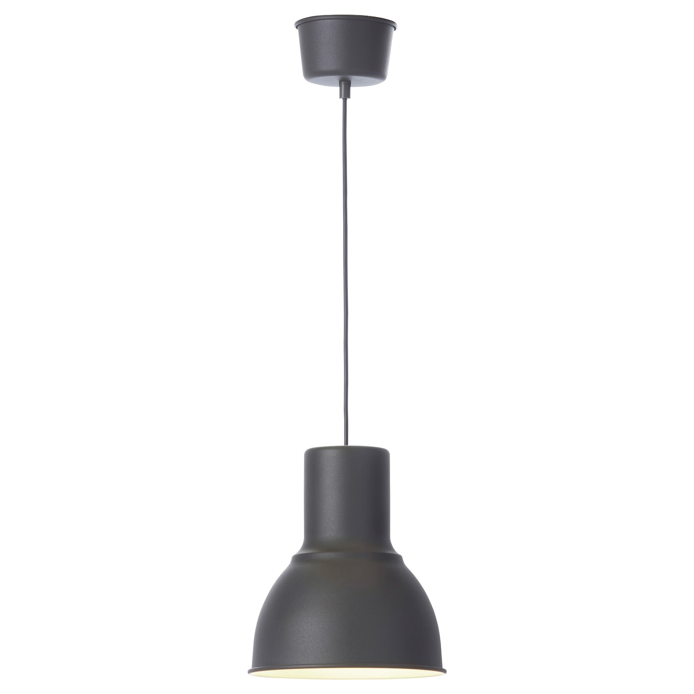 hektar pendant lamp dark grey 22 cm ikea. Black Bedroom Furniture Sets. Home Design Ideas