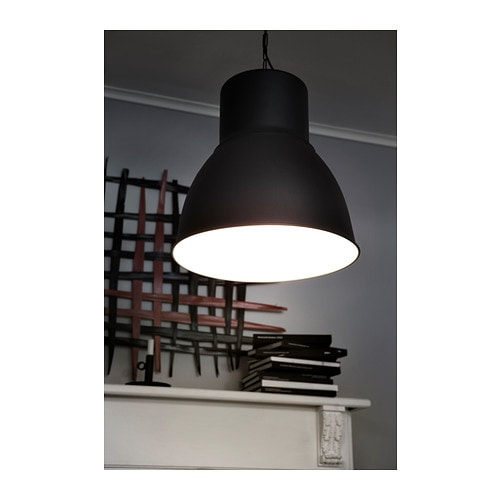 Hektar pendant lamp dark grey 22 cm ikea - Luminaire suspension ikea ...