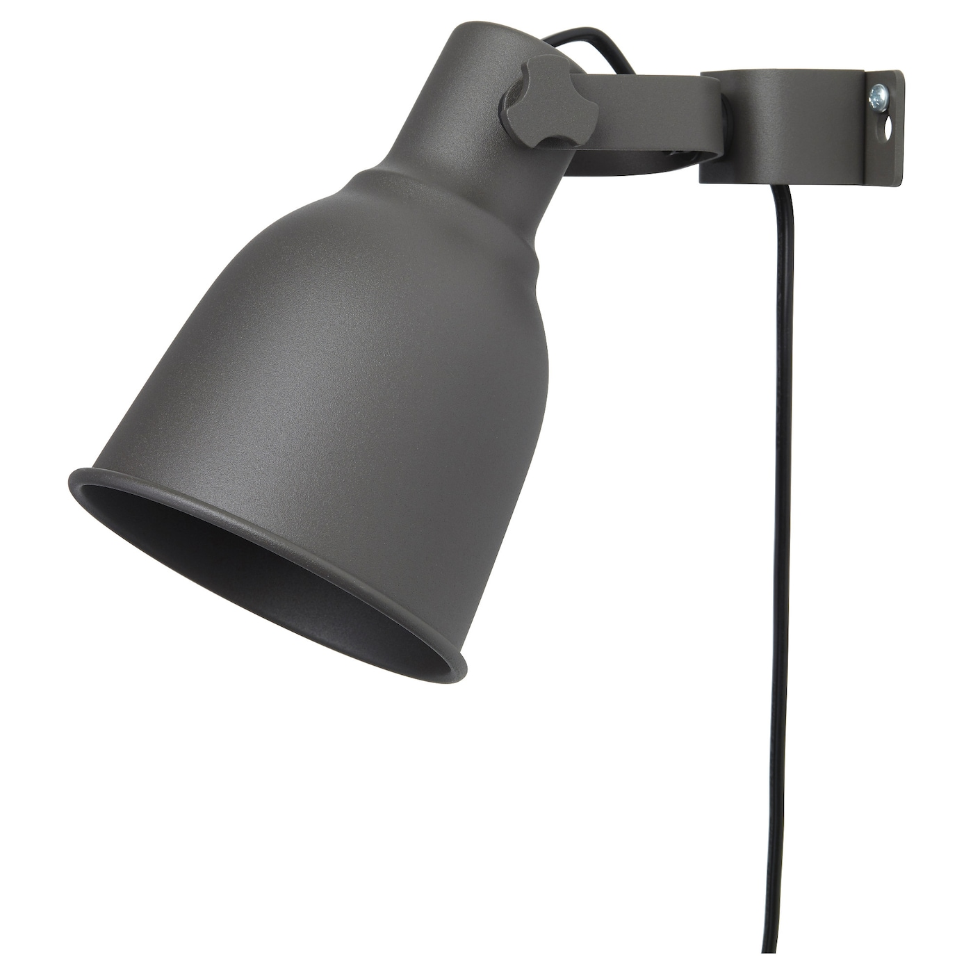 hektar wall clamp spotlight dark grey ikea. Black Bedroom Furniture Sets. Home Design Ideas