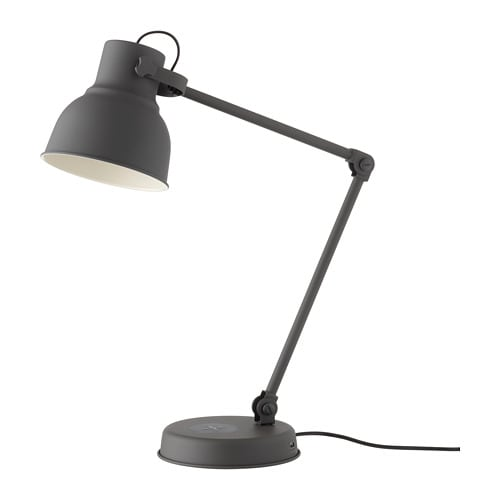Ikea Hektar Work Lamp With Wireless Charging Provides A Directed Light That Is Great For Reading