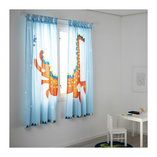 Heltokig pair of curtains light blue 120x175 cm ikea - Tende ikea bambini ...