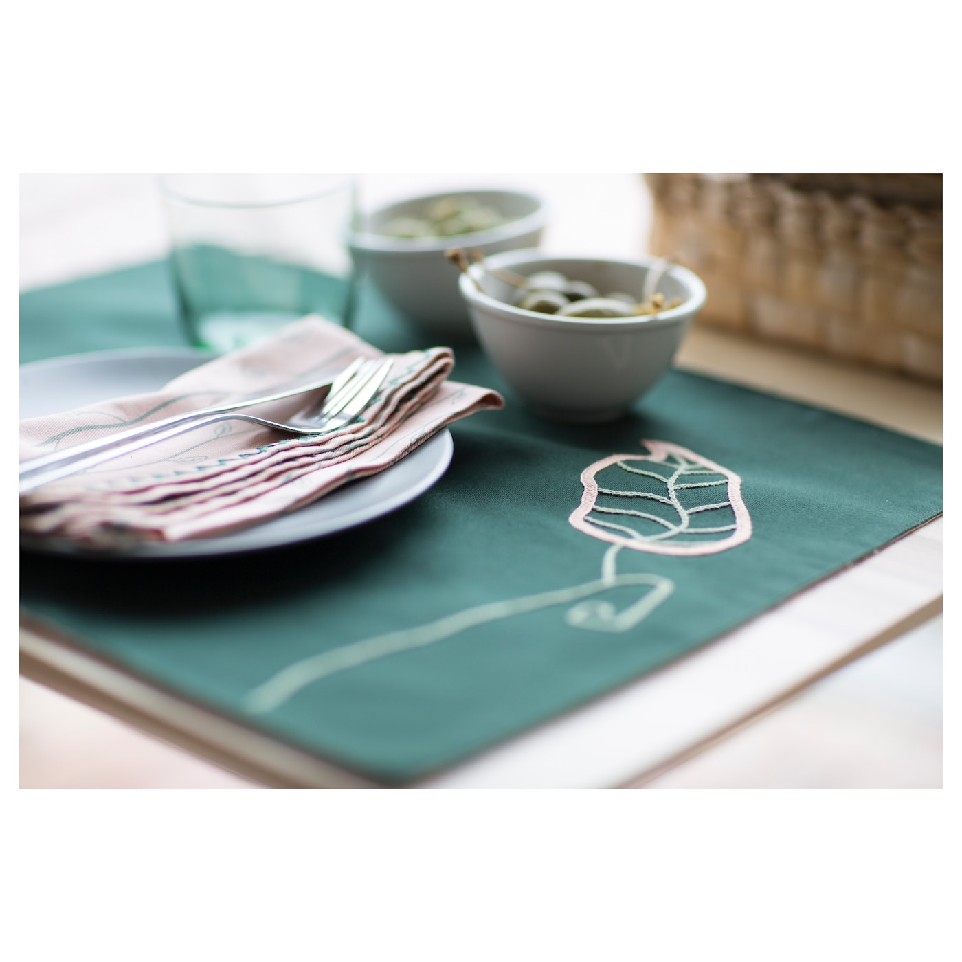 IKEA HEMGJORD place mat Protects the table top surface and reduces noise from plates and cutlery.