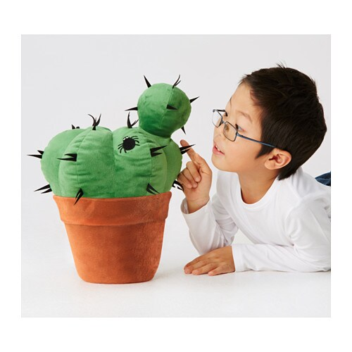 Hemmahos soft toy cactus green ikea for Ikea children toys